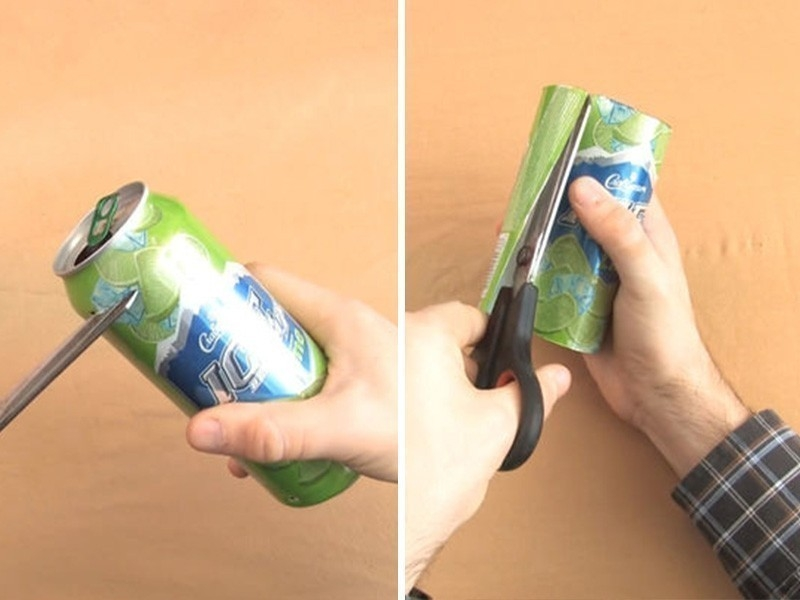 paso a paso abrir candado con lata