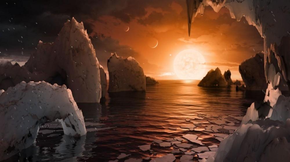 recreación de la superficie de los nuevos planetas