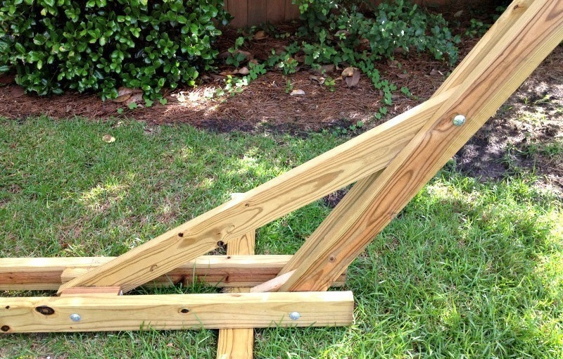 Soporte para hamaca - pasos para la construcción