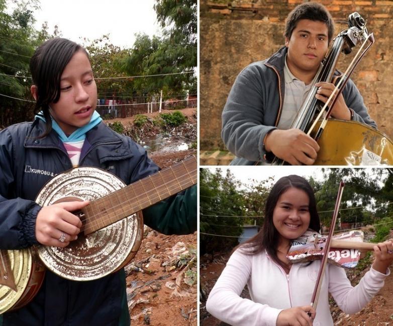 Ellos hicieron de la basura, ¡música!- instrumentos reciclados