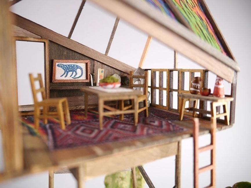 casas del arbol en miniatura de Jadediah Corwyn Voltz
