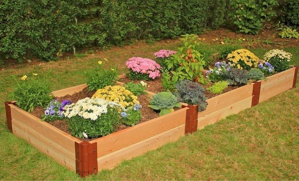 construcción de bancales elevados de jardinería- diseño
