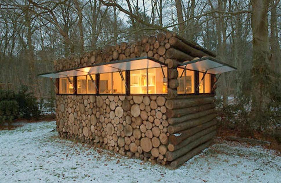 casa pequeña - troncos