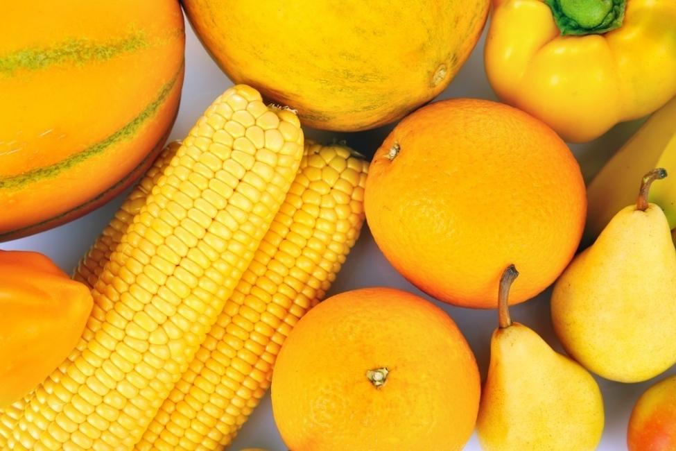 vegetales amarillos y anaranjados