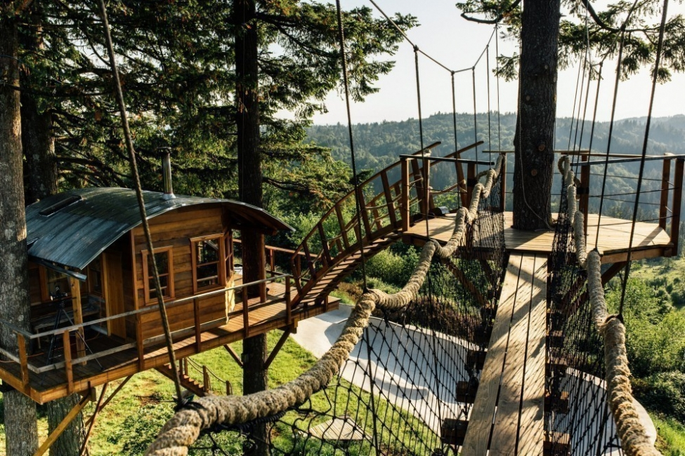 The Cinder Cone- casa del árbol-puente