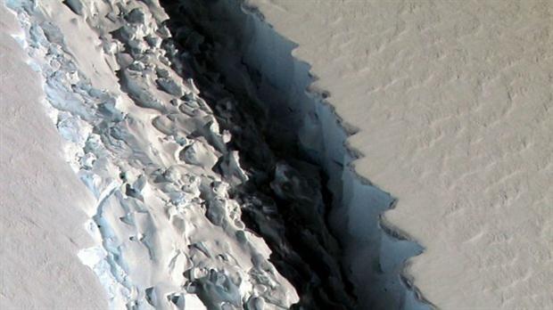 grieta en la antártida
