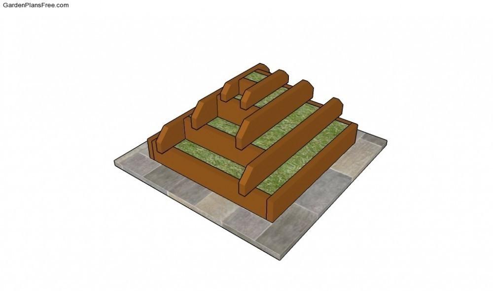 pirámide para plantar- diagrama