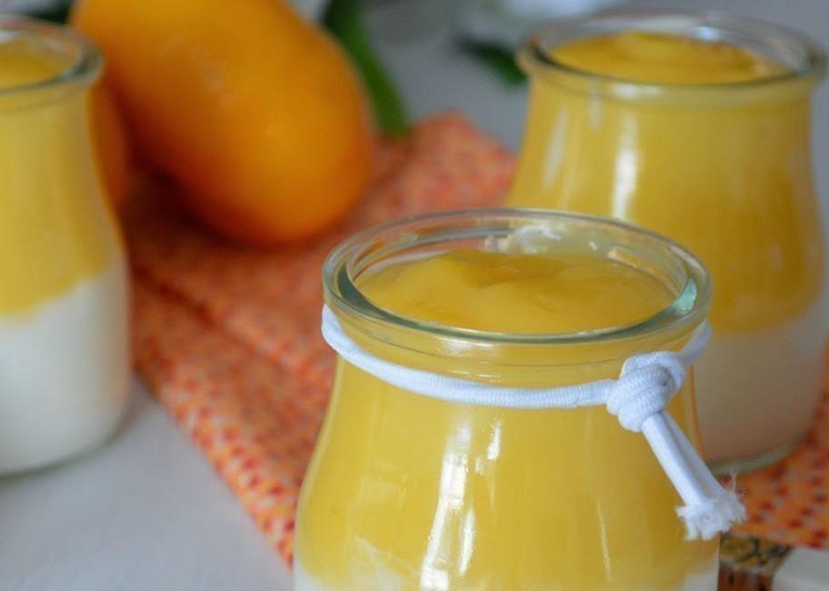 Postre saludable de yogur griego con crema de naranja - paso 4
