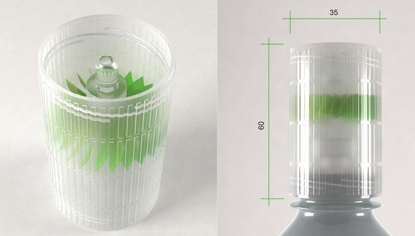 mini-planta hidroeléctrica de botellas pet