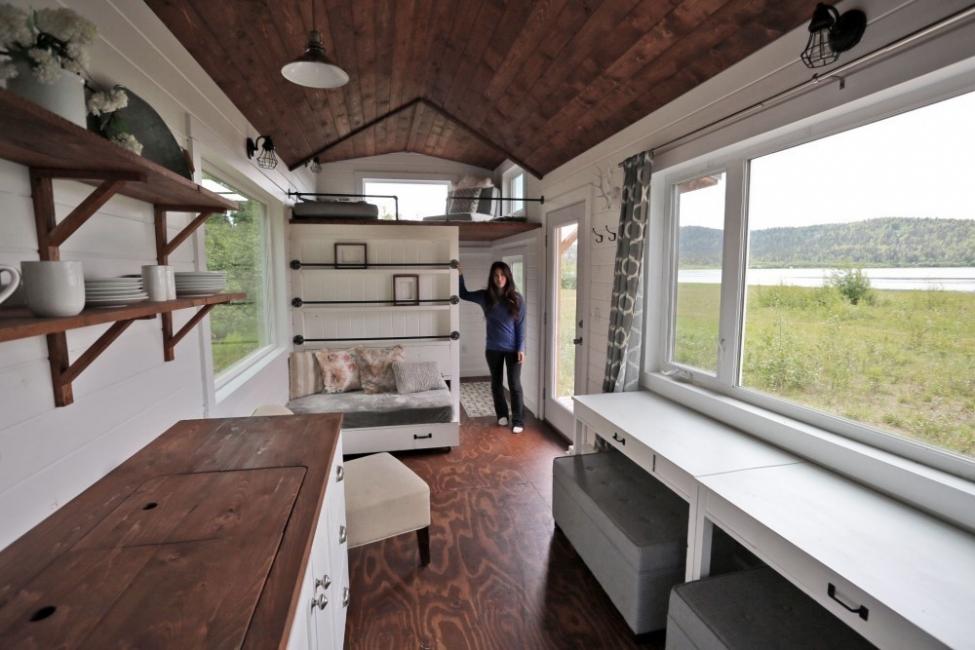 Pequeña casa para aprovechar al máximo el espacio y la comodidad- interior