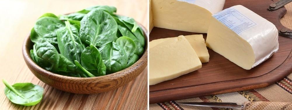Espinaca y queso recetas