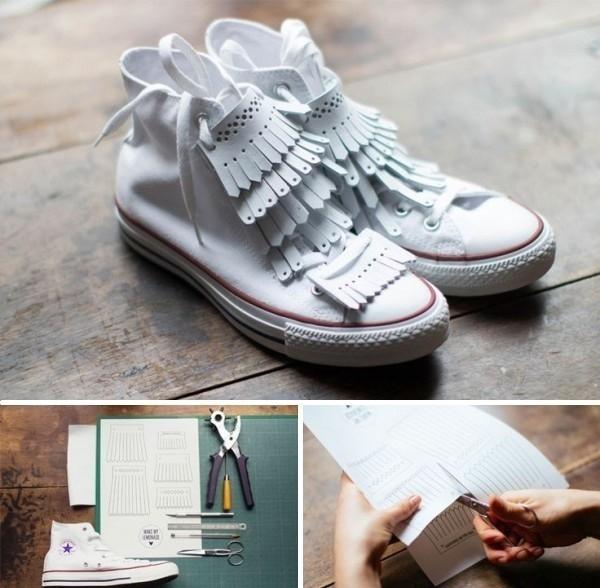zapatillas con flecos