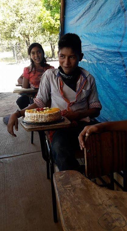 Es la primera torta que Julio recibe por su cumpleaños