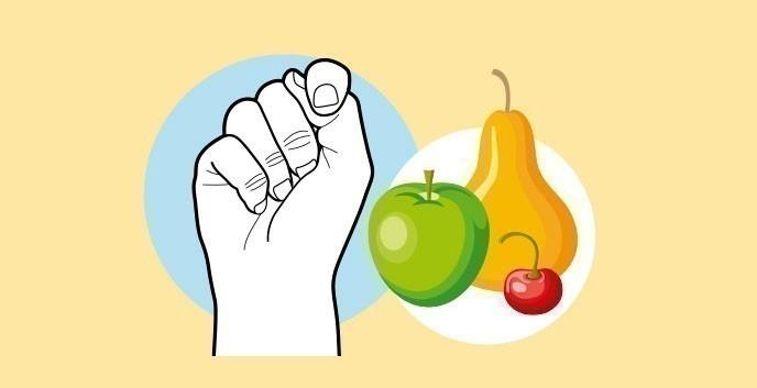 Cuánto comer según nuestras manos- frutas
