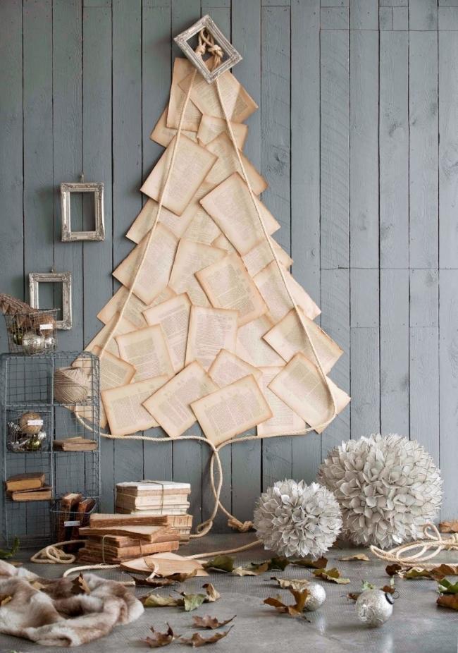 Árboles de Navidad para espacios pequeños - libro viejo