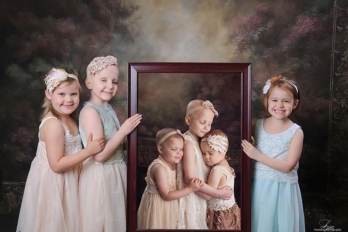 Las niñas hoy después de superar el cáncer