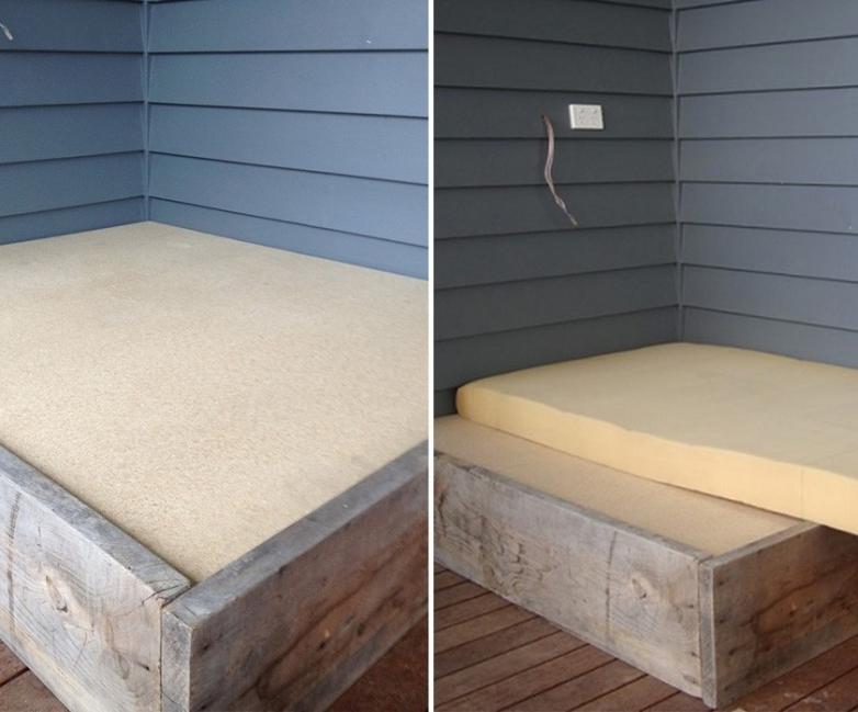 Cómo hacer una cama para tu jardín - colchón