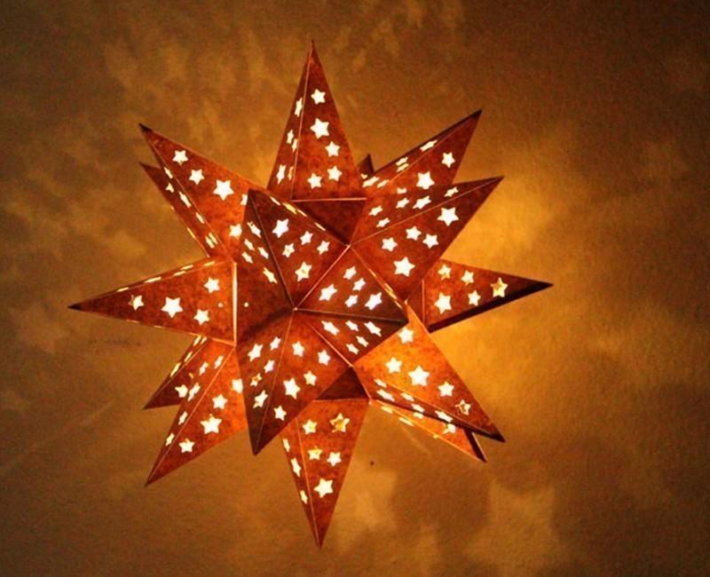lámpara estrella brillante - navidad