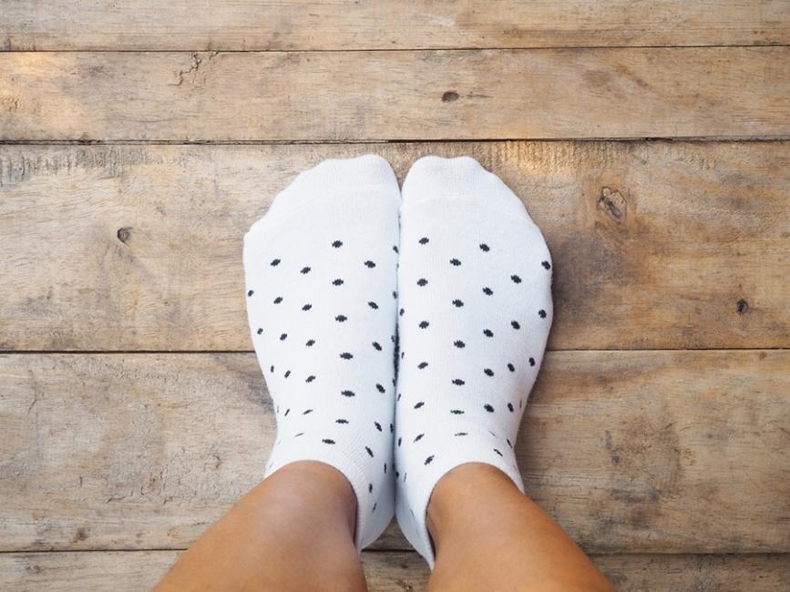 calcetines sucias- blanquear