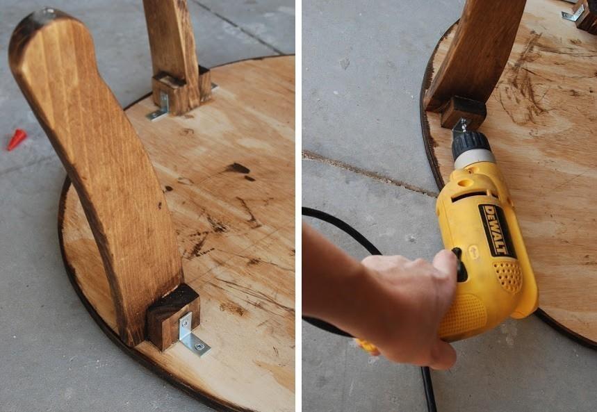 mesa neumático- patas