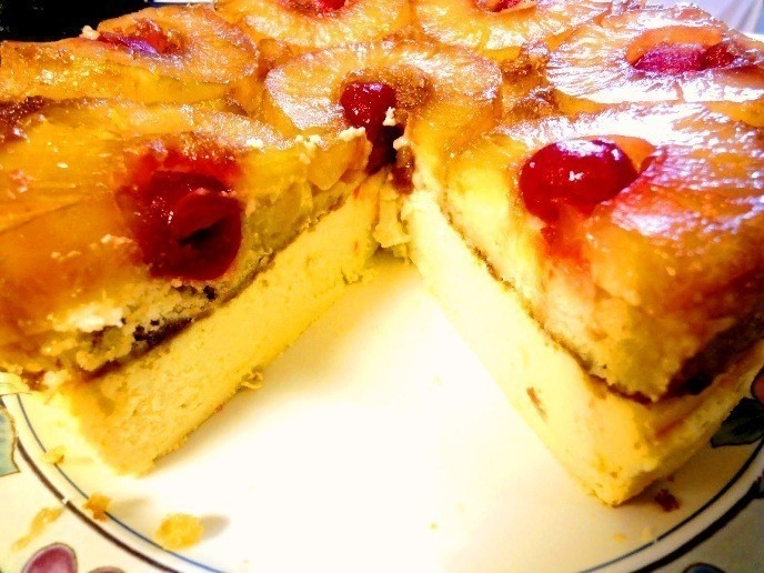 cheesecake invertido de piña