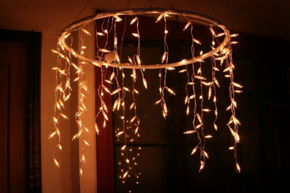 Decorar con luces en cadena- lámpara colgante
