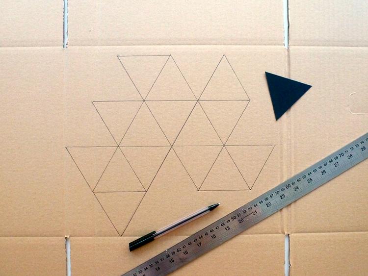 lámpara origami- paso a paso