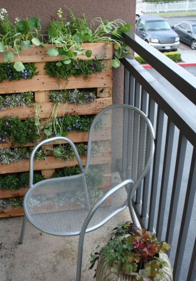 Jardín vertical con palet