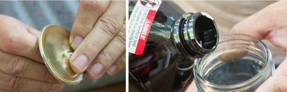 Vela de aceite repelente - armado