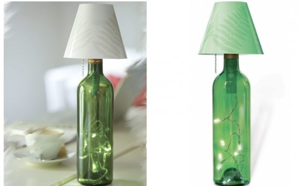 lampara en botella