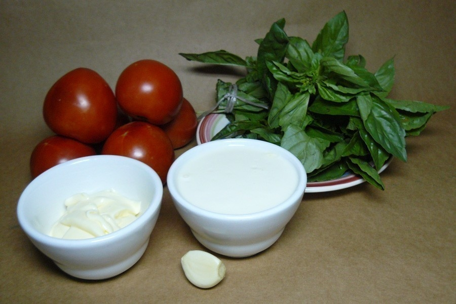mousse tomate albahaca - ingredientes