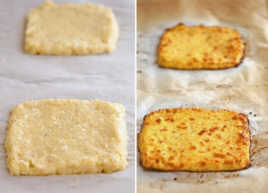 Sándwich de coliflor sin harinas - preparar el pan de coliflor