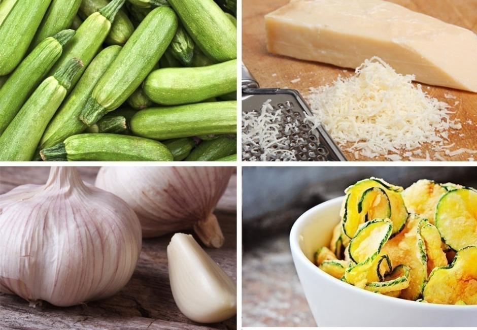 zucchini chips - ingredientes