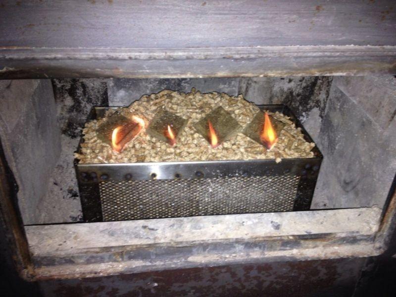 fuego con pellets