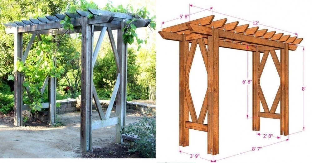 Como Hacer Una Pergola De Jardin Paso A Paso - Como-hacer-una-pergola-de-hierro