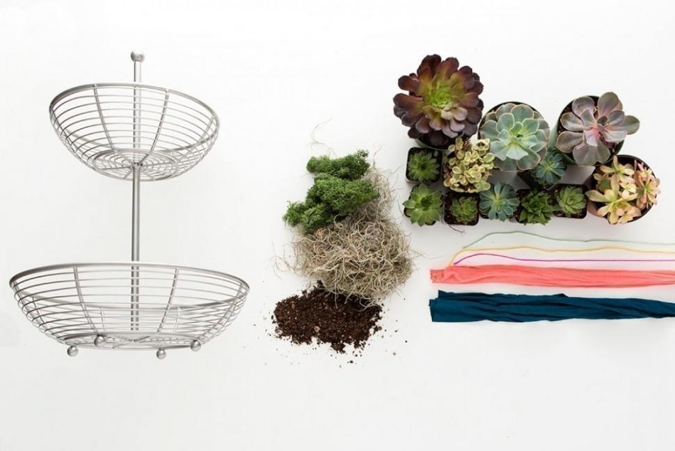 hacer un pequeño y colorido jardín para tener dentro de tu hogar- materiales