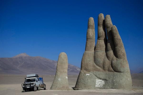 1. La mano gigante, desierto de Atacama, Chile