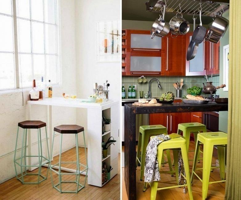 12 ideas para armar una práctica barra en la cocina- barras originales