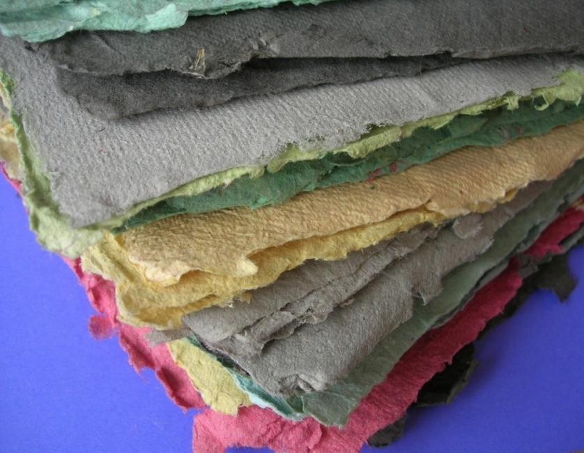 Papel reciclado - papel reciclado de colores