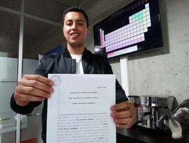 Alberto Barriga patentó los elementos de la tabla periódica