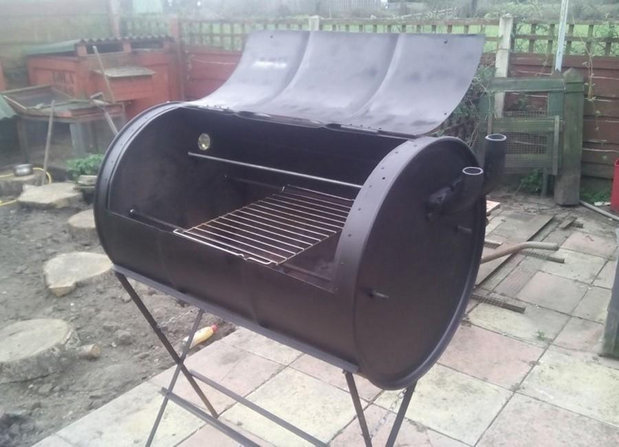 hacer un horno- parrilla con un barril reciclado - paso 5