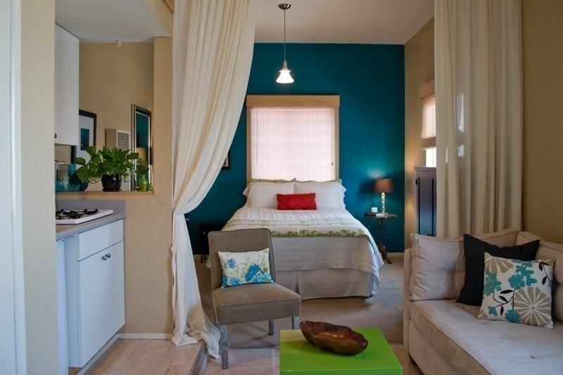 separar ambientes con cortinas - ideas espacios