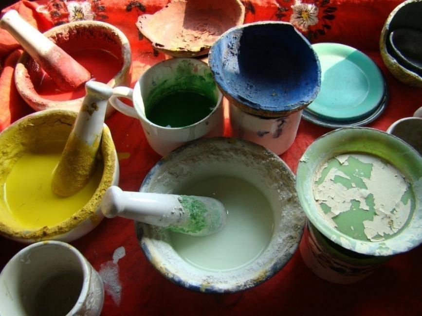 Pintura casera - baldes
