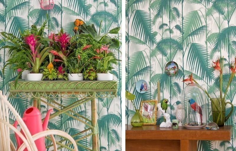 Cómo decorar con estilo tropical- empapelado