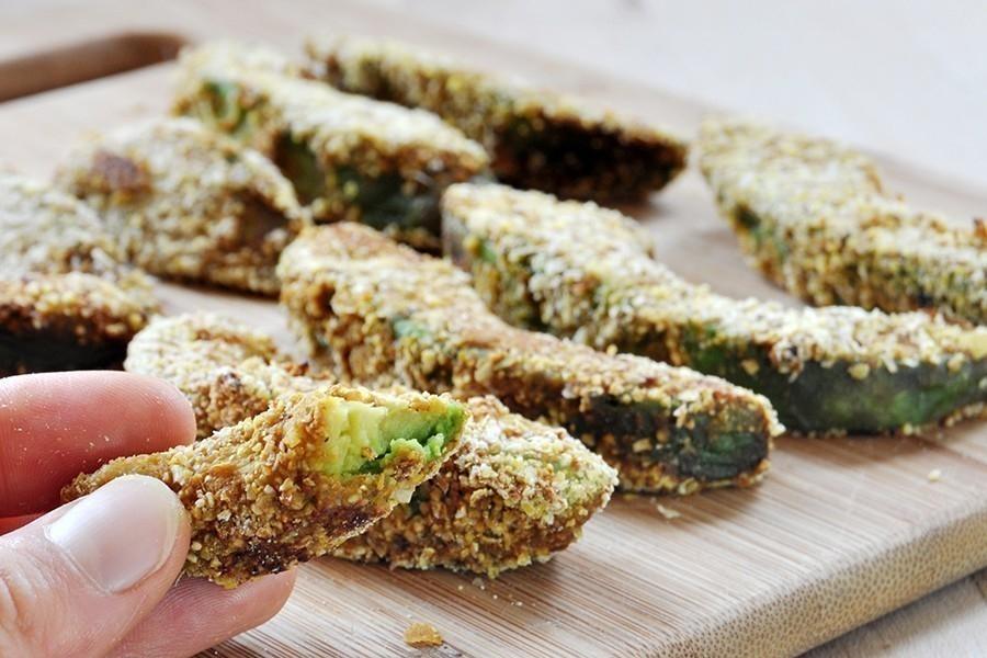 Snack crocante de palta-