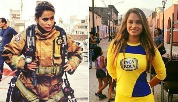 bombera - miss perú - Nathaly Terrones
