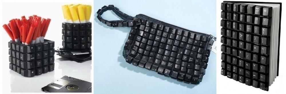 reutilizar basura electrónica - teclados