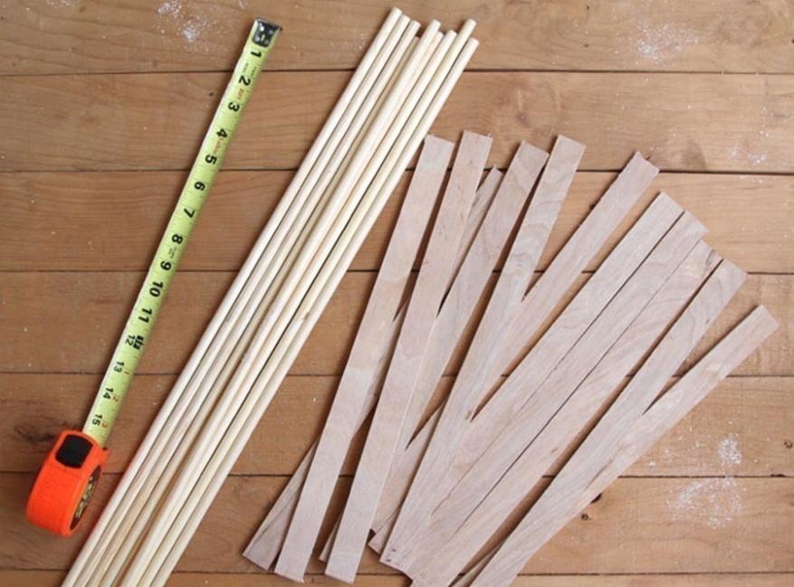tender en forma de estrella- cortar madera