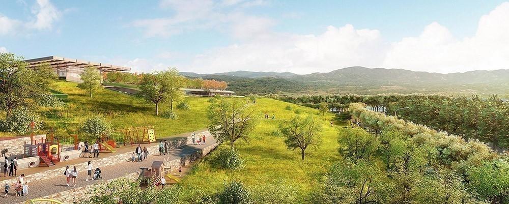 diseño de techo verde más grande del mundo