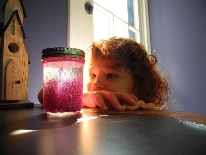 frasco de la calma- niños- brillante